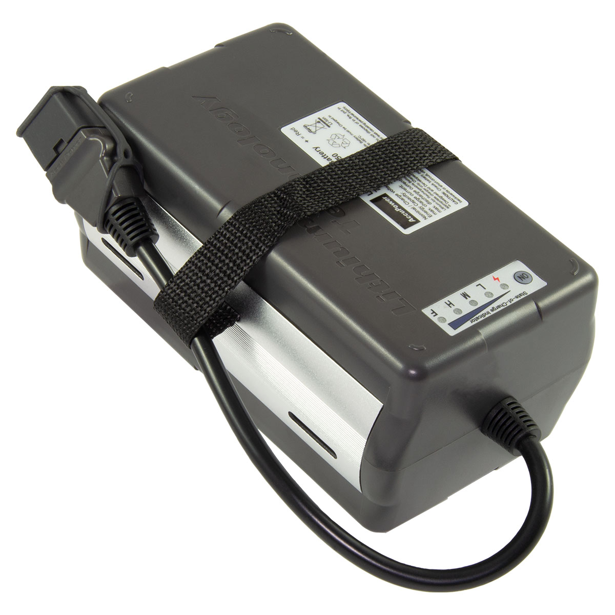 AccuPower Lithium Battery 7S4P 25,9V 10,4Ah 270Wh in housing with LED indicator